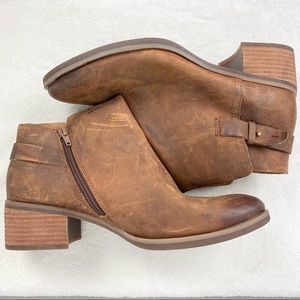Korks Sonya Brown Leather Ankle Boots 10